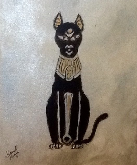 Egyptian Black Cat