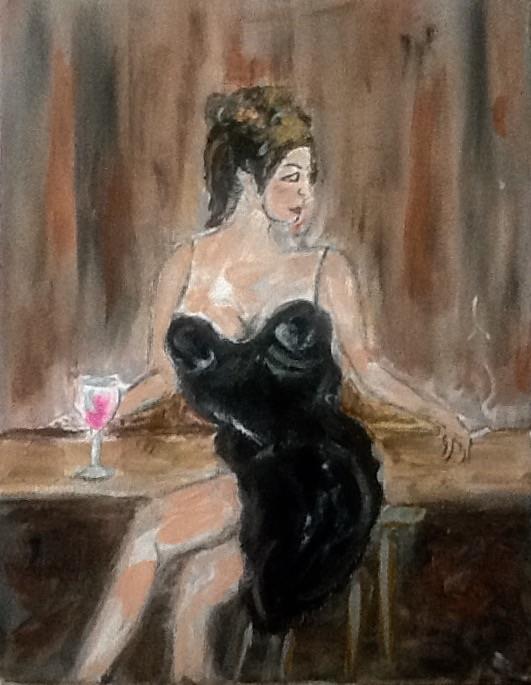 Lady at Bar 2