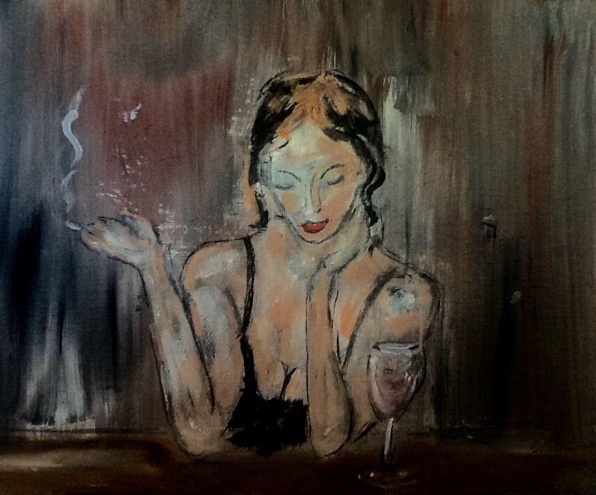 Lady at Bar