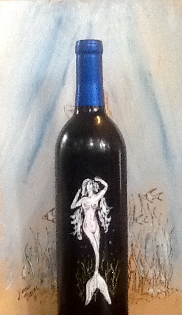 Mermaid Wine Bottle