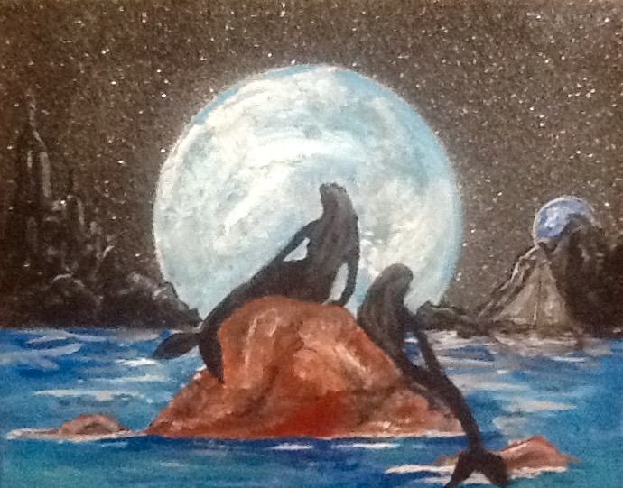 Mermaids in Moonlight