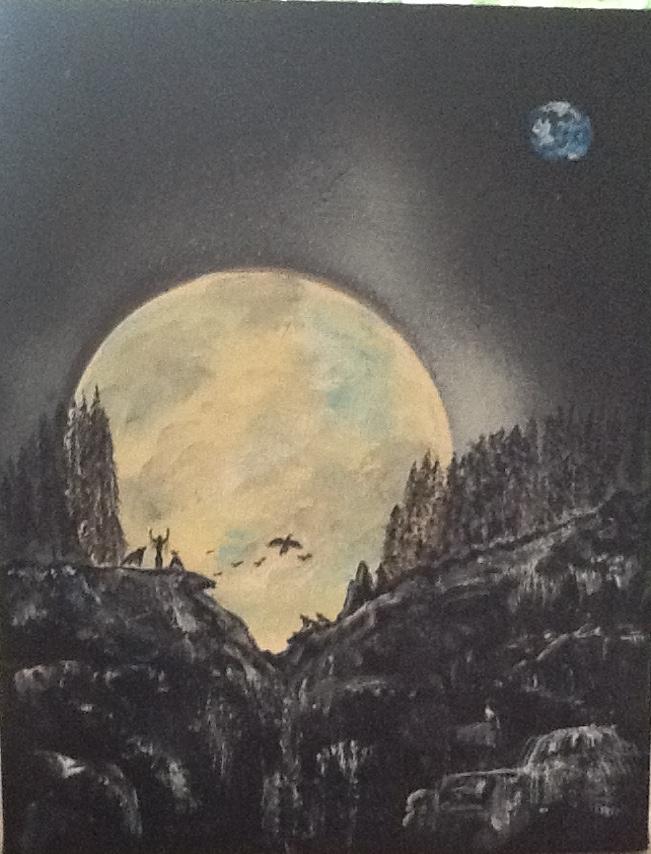 Moon Dancer on Cliff