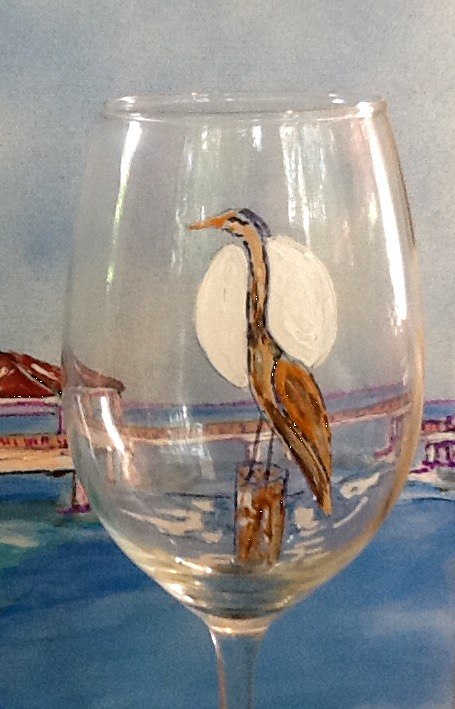 Sea Bird Wine Glass