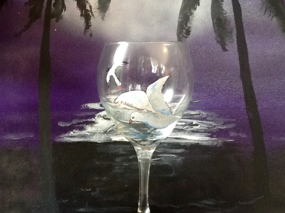 Seagull Wine Glass