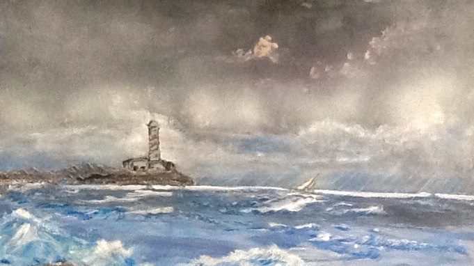 Storm Approaching Lighthouse