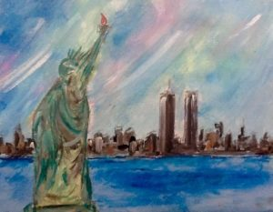 Twin Towers Never Forget - 9/11 Artwork by Merrill August James Thayer