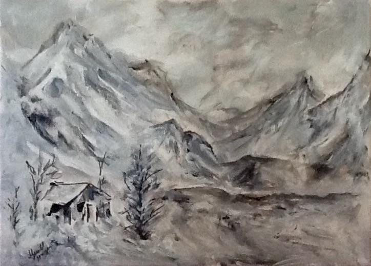 Grey Mountain Landscape