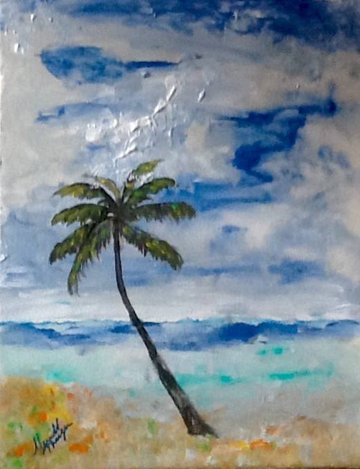 Palm Tree Deserted Island