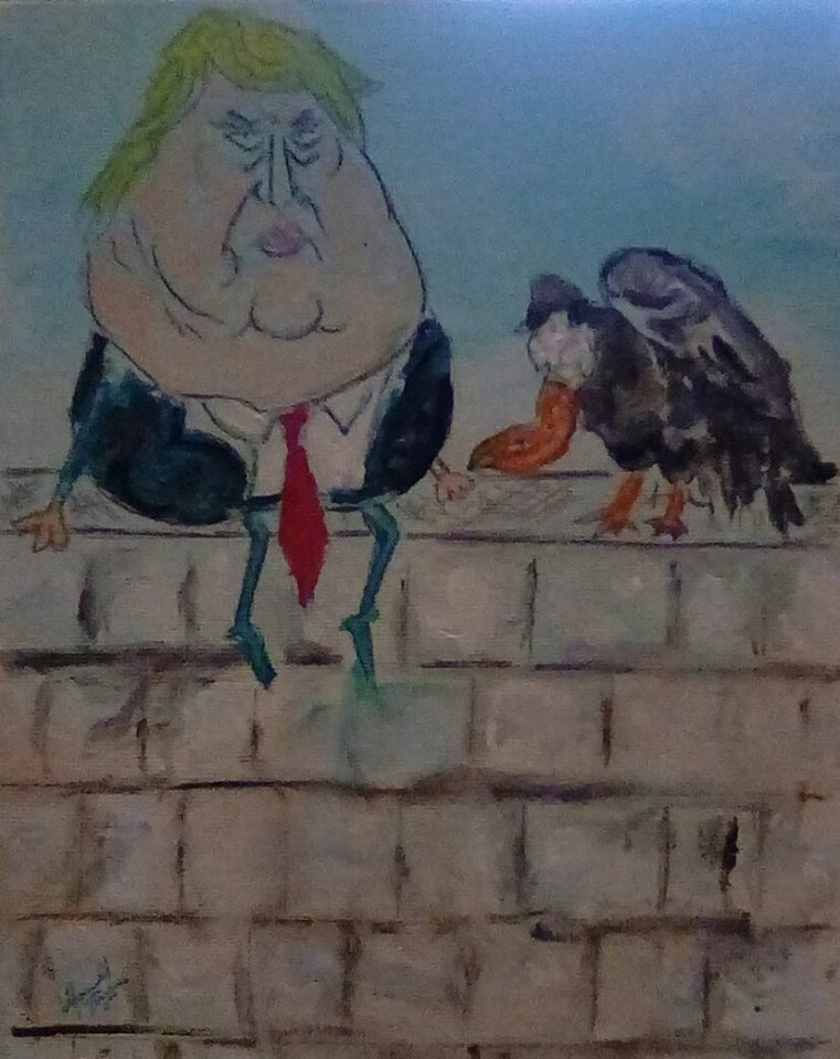 Two old buzzards sitting on a wall, one can fly the other will fall